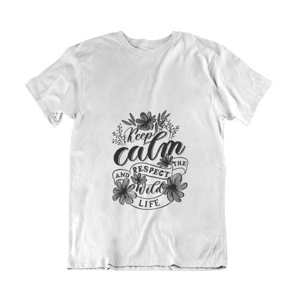 "Camiseta "" Keep Calm and Respect The Wild Life "" soluciones Las Soluciones Para S"