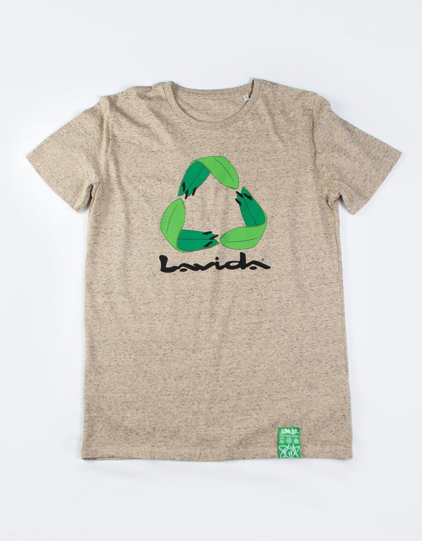 Camiseta Recicla Manga Corta Camisetas Lavida shop S Slub Mid Heather Cley
