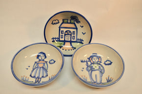 Collection of Three M.A. Hadley Soup Bowls