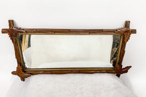 Rustic Wood Framed Mirror1
