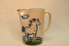 "M.A. Haldey Pitcher in the ""Country Scene"" Pattern"