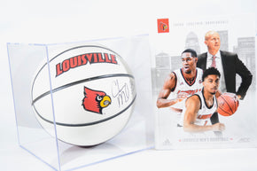 University of Louisville Signed Chris Mack Basketball, signed Jeff Walz Basketball, signed Dan McDonnell Baseball and Coffee Table UofL Book