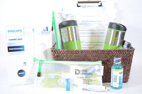 Dental Care Basket from Ideal Dentistry Including Zoom Team Whitenings and Sonic Care Toothbrush
