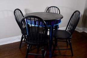 Round Hand Painted Kitchen Table with 4 matching chairs
