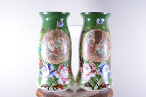 Pair of Painted Vases