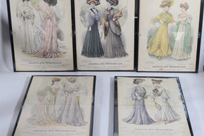 "Early 1900's ""Journal Des Demoiselles"" Framed Cover Collection"