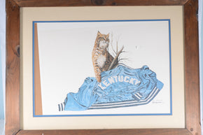 Framed Kentucky Wildcat Print