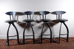 Set of Four Contemporary Barstools
