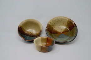 Trio of Stoneware Bowls