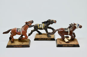Set of Three Derby Horses by Commemorative Derby Prodcuts