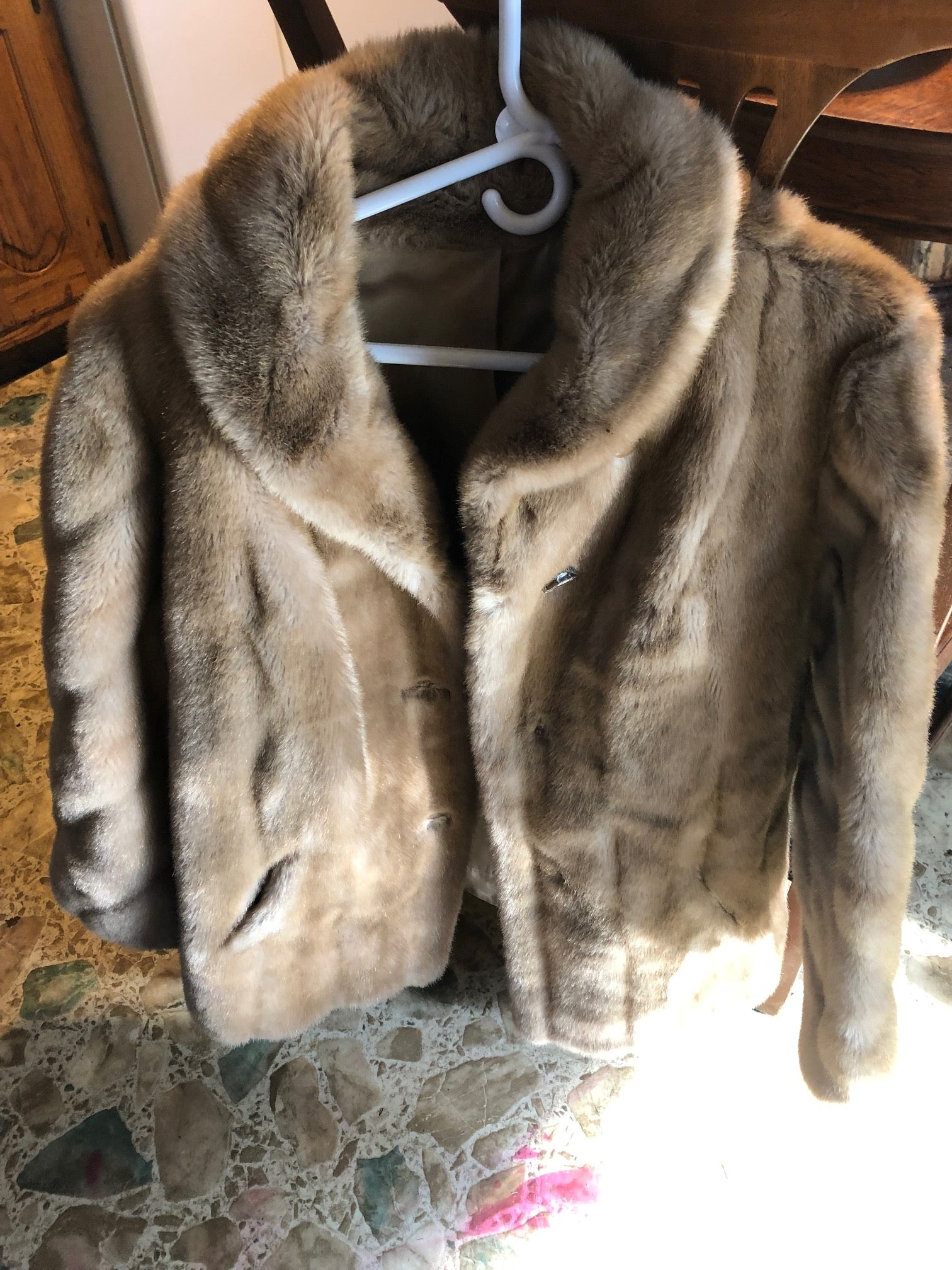 Light Brown Fur Jacket