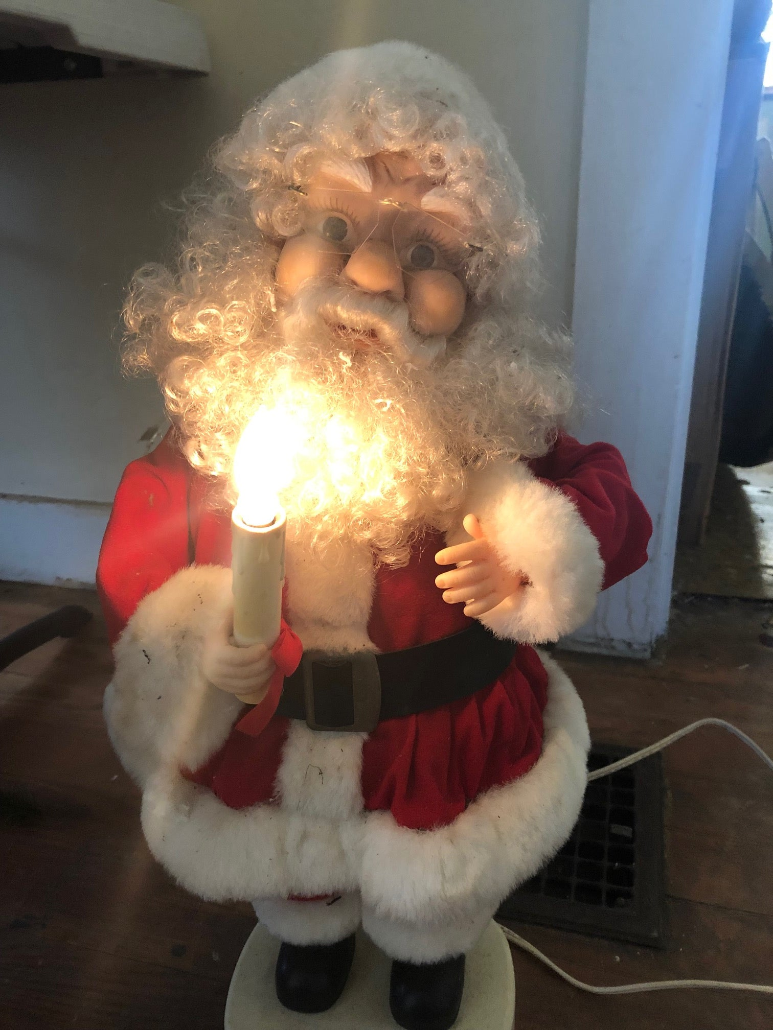 Light Up Santa Decor