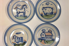 Collection of Four M.A. Hadley Dinner Plates