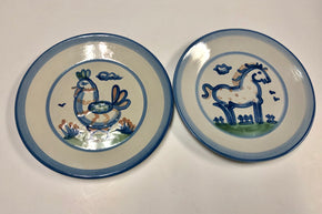 Pair of M.A. Hadley Dinner Plates