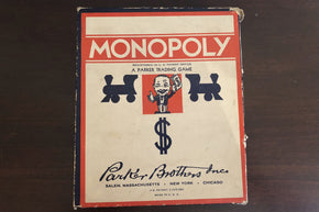Vintage Monopoly Game with Wooden Pieces