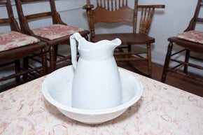 Vintage Ironstone Pitcher and Basin