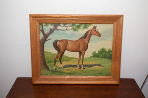 Vintage Framed Painting of a Horse2