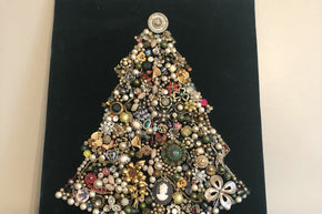 Vintage Jewelry Christmas Tree Art1