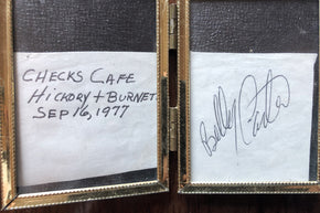 "Billy Carter of ""Billy Beer"" and Jimmy Carter's Brother Autograph"
