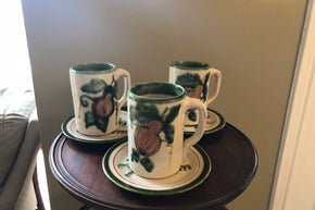 Trio of John B. Taylor Ceramics Mugs and Saucers