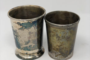Pairing of Silver Plate Julep Cups