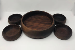 Wooden Salad Bowl Set