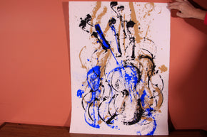 "Signed and Numbered ""Composition Violon Bleu"" by Arman"