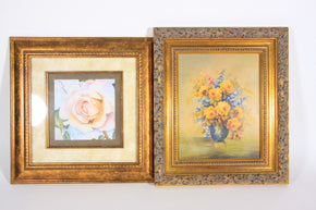 Pair of Framed Floral Prints