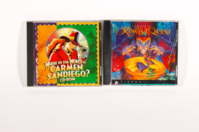 Kings Quest and Where in the World is Carmen San Diego Macintosh CD-ROM