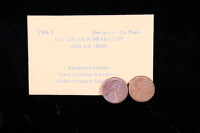 1956 and 1956D Lincoln Head Cents