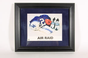 "University of Kentucky Football ""Air Raid"" Framed Print1"