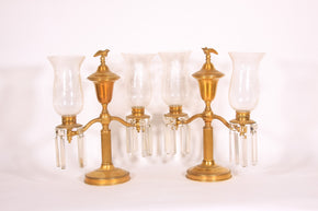 Pair of Vintage Two Light Lustres