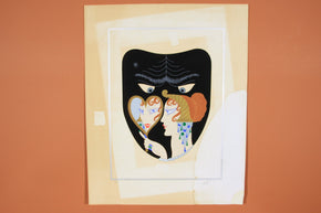 "Erté Signed Artist Proof Serigraph on Paper ""Seven Deadly Sins: Envy"""