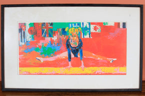 """Olympic Gymnast"" Offset Lithograph by Leroy Neiman"