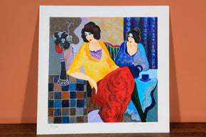 "Itzhak Tarkay Limited Edition Serigraph ""Sisters"""
