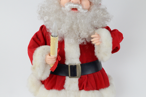 "Vintage Light Up Santa 25"" tall, 6"" deep 12"" wide"