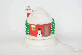 Ceramic Light up Christmas House 10 in high 9 in wide