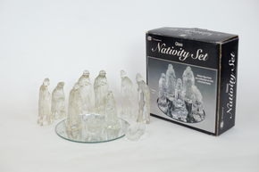 Glass Nativity Scene