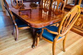 Cherry Hepplewhite Dining Table and Chairs