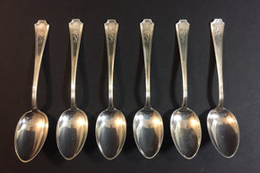Set of Six Sterling Silver Spoons1