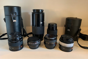Collection of 35MM camera lenses