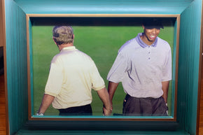 Framed Photo Tiger woods & Jack Nicholas 2000 PGA Championship