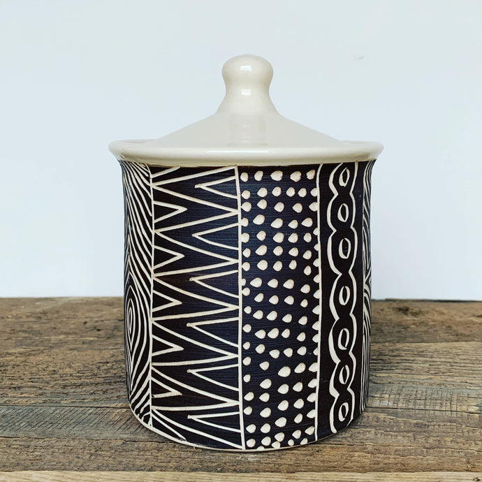 AFRICA MODERN MUD CLOTH CANNISTER (7