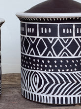 Load image into Gallery viewer, AFRICA MODERN MUD CLOTH CANISTER SET OF 3