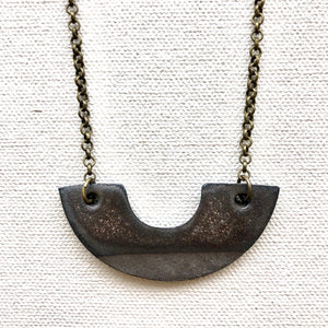 BRONZE DUO NECKLACE
