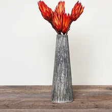 Load image into Gallery viewer, CHARRED LINEN TAPER VASE B