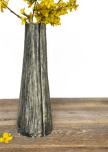 Load image into Gallery viewer, CHARRED LINEN TAPER VASE E