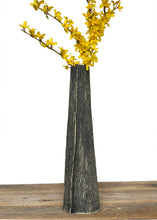 Load image into Gallery viewer, CHARRED LINEN TAPER VASE C