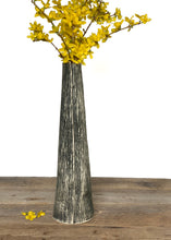 Load image into Gallery viewer, CHARRED LINEN TAPER VASE D
