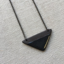 Load image into Gallery viewer, Ebony Triangle Necklace